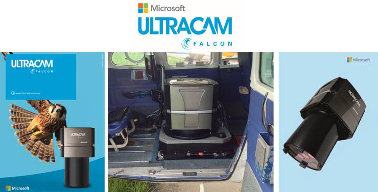 航空測量カメラUltraCam Falcon PrimeとジャイロマウントGSM4000