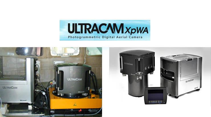 航空測量カメラUltraCam XpWAとジャイロマウントGSM3000