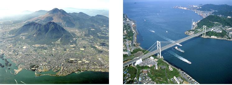 雲仙と関門海峡